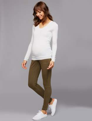 Pea Collection Secret Fit Belly Skinny Leg Maternity Pants