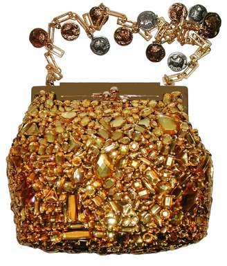 Dolce & Gabbana Gold Glitter Handbag
