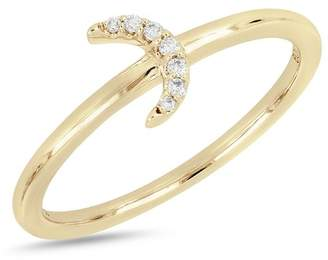 Bony Levy 18K Yellow Gold Diamond Half Moon Ring - 0.04 ctw