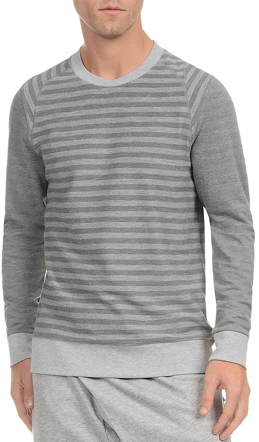 2(X)IST Stripe French Terry Pullover