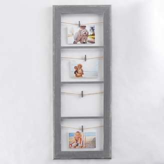Belle Maison Rustic 4-Opening Photo Clip Frame