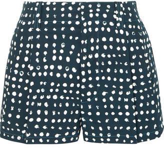 Marni Polka-dot Cotton-poplin Shorts - Navy