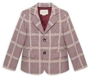 Gucci Little Boy's& Boy's Print of Galles Wool Coat