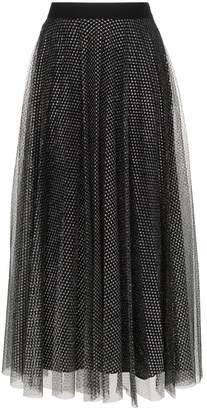 Christopher Kane metallic tulle pleated skirt