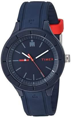 Timex TW5M17000 Ironman Essential Urban Analog 42mm Navy/Red Silicone Strap Watch