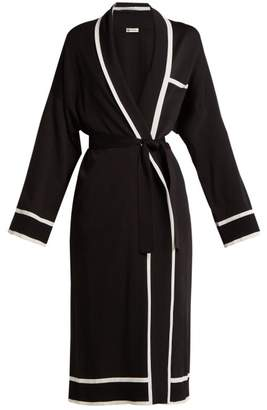Connolly - Tie Waist Silk Robe - Womens - Black Multi