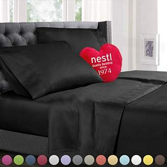 Queen Size Bed Sheets Set Black