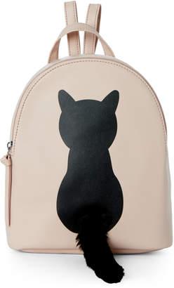 T-Shirt & Jeans T Shirt & Jeans Blush Cat Plush Tail Backpack
