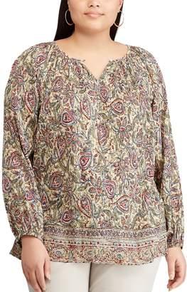 Chaps Plus Size Floral Blouse
