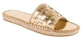 Andre Assous Sari Leather Slide Sandal $129 thestylecure.com