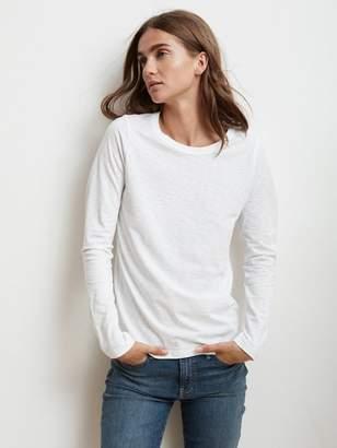 Graham & Spencer Velvet By Velvet by Liz T Shirt In White - XS