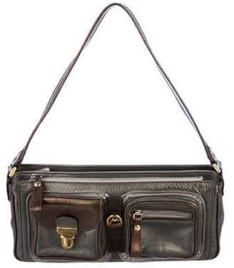 Etro Lizard & Leather Shoulder Bag