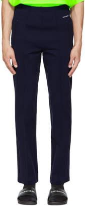 Balenciaga Navy Logo Track Sweatpants