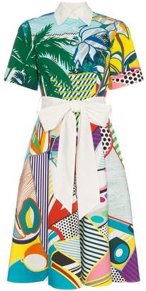 Mary Katrantzou Cecilia pop art print cotton shirt dress
