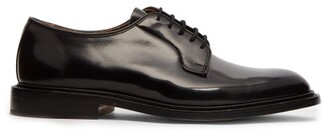 Tricker's Robert High Shine Derby Leather Shoes - Mens - Black