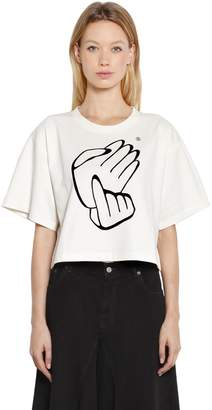 MM6 MAISON MARGIELA Japanese Counting Cropped Jersey T-Shirt