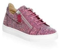 Giuseppe Zanotti Baby's, Toddler's,& Girl's Glitter Double Zip Low Top Sneakers