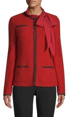 St. John Gail Collarless Knit Jacket