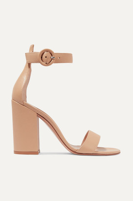 Gianvito Rossi Versilia 100 Leather Sandals - Ecru