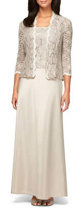 Alex Evenings Sequin Lace & Satin Gown with Jacket (Petite) $209 thestylecure.com