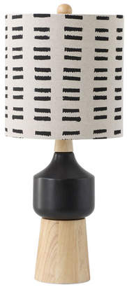 3r Studio Wood and Ceramic Table Lamp w/ Linen Shade