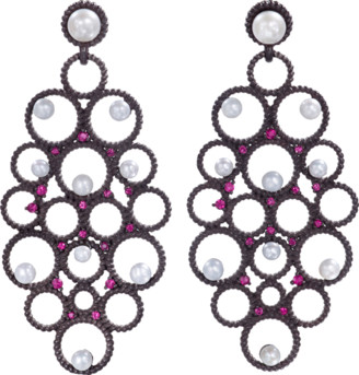 GEMFIELDS X MUSE Ruby And Pearl Earrings