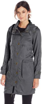 Fillmore by Anorak Women's Annie Waxed Tencel Anorak with Hood