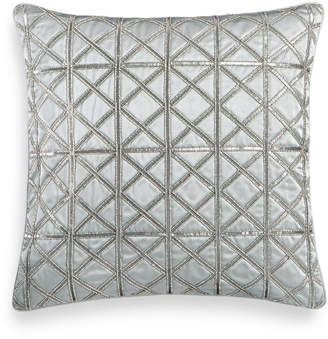 """Hotel Collection Lithos Beaded 20"""" Square Decorative Pillow"""