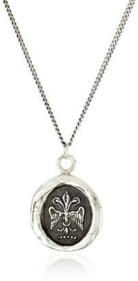 """Pyrrha talisman"""" Sterling Fleur De Lys Necklace"""