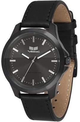 """Vestal Slim Leather & Stainless Steel Watch """"Heirloom"""""""