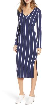 Chelsea28 Vertical Stripe Midi Dress