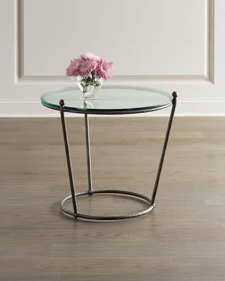 Bernhardt Cortland Round Iron & Glass End Table