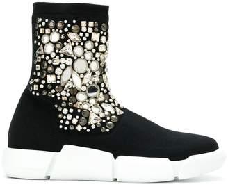 Strategia x Elena Nachi embellished sneaker boots