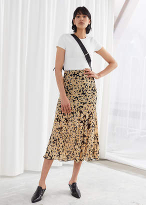 And other stories Floral Print Midi Skirt