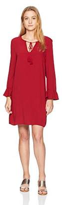 Jack by BB Dakota Junior's No Limit Crepe Dress with Back Ruffle