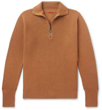 Barena Ribbed Wool Half-Zip Sweater