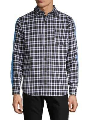 Flannel Tape Button-Down Shirt