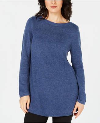 Karen Scott Long-Sleeve Tunic Sweater