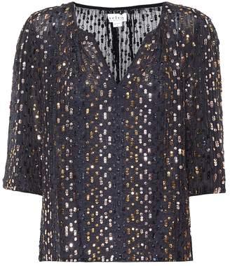 Velvet Prima sequinned top