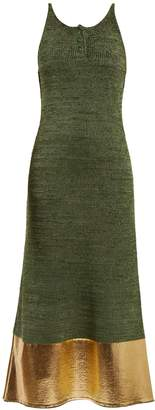 J.W.Anderson Foil-panel sleeveless knit dress
