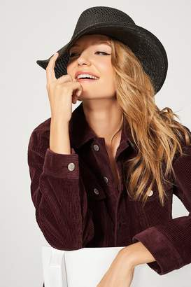 Urban Outfitters Telescope Straw Boater Hat