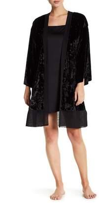 Shimera Velvet Chiffon Kimono