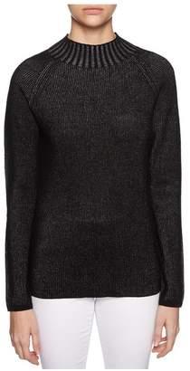 Magaschoni Long Sleeve Metallic Pullover