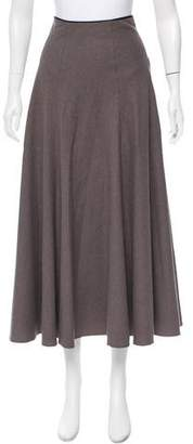 Calvin Klein Collection Virgin Wool Midi Skirt
