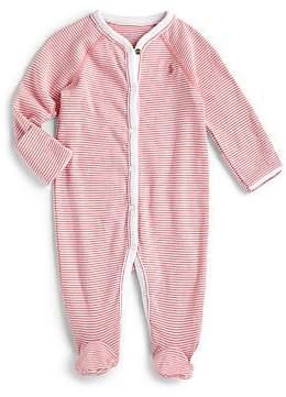 Ralph Lauren Baby Girl's Striped Cotton Footie