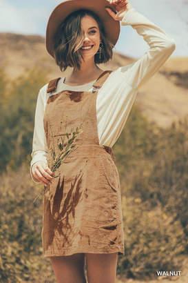 Umgee USA Corduroy Overhalls Dress