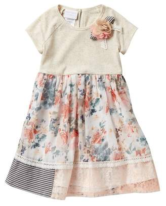 Iris & Ivy Short Sleeve Floral Knit Dress (Toddler Girls)