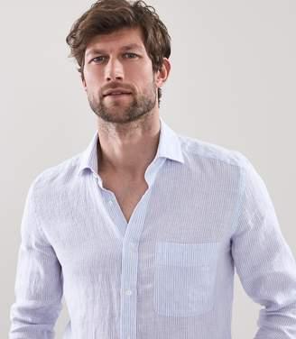 Reiss Luther Striped Linen Shirt