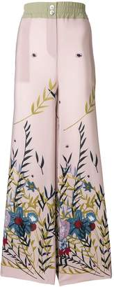 Cavallini Erika floral print trousers