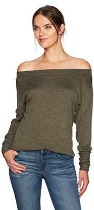William Rast Women's Hunter Off Shoulder Sweater Knit Top